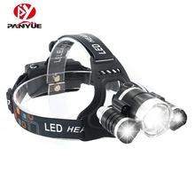 цена на PANYUE RJ-3000 3000LM T6+2*R2 Headlight 4-Mode Sensor Headlamp Camping Head Torch Hunting Flashlight Frontal Lantern