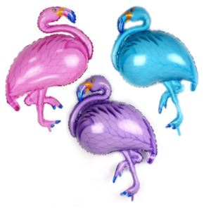 party supplies cartoon 105x51cm flamingo balloons foil balloons children toy christmas giftchristmas decorations for home in ballons accessories from - Flamingo Christmas Decorations