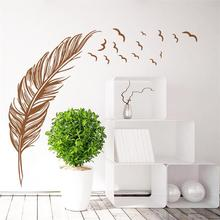 Flying Feather Living Room Wall Decal For Home Decoration Decor Vinyl Art Muralr Sticker Y-278