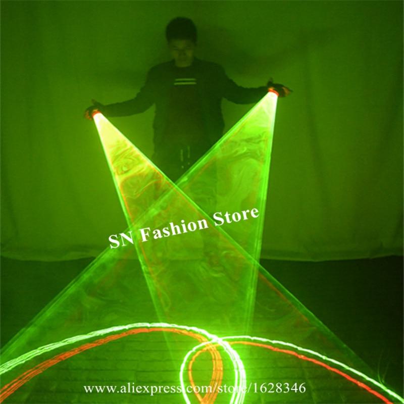 SJ84 Salle De Bal de danse laser tourbillon gants party stage show porte LED costume spectacle de danse dj performance laser lumineux disco vert ds