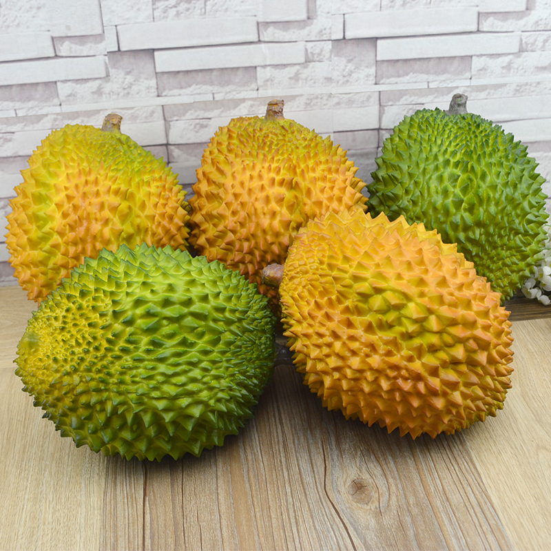 Artificial Plants Flores High Simulation Pu Fake Fruit Durian Feel Lmdec el Furnishings Decorative Model Supplies Kitchen lost fleet leviathan