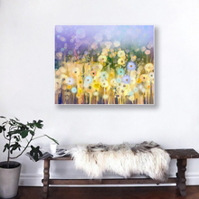 Laeacco Canvas Painting Calligraphy Garden  Posters and Prints Flowers Light Bokeh Wall Artwork Pictures Home Decoration
