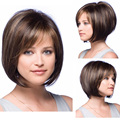 AISHILI Brown Bob Wigs mix Blonde Hair For Women Jenner Sassy Short Straight Hair Pixie cut Bob synthetic wigs Peruca cosplay