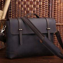Augus кожаная классическая деловая сумка модная и прочная офисная сумка с большой частью мужская сумка 7082R-1