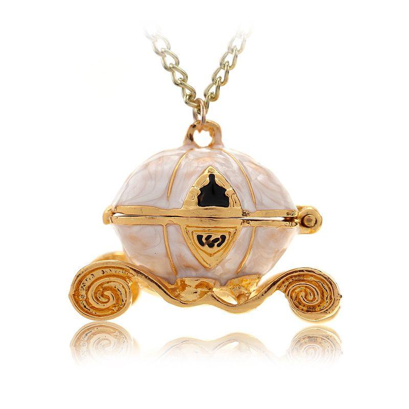 New fashion movie A Cinderella Story Pendant Necklace Cinderella magic Pumpkin cart Necklace Jewelry men women gift