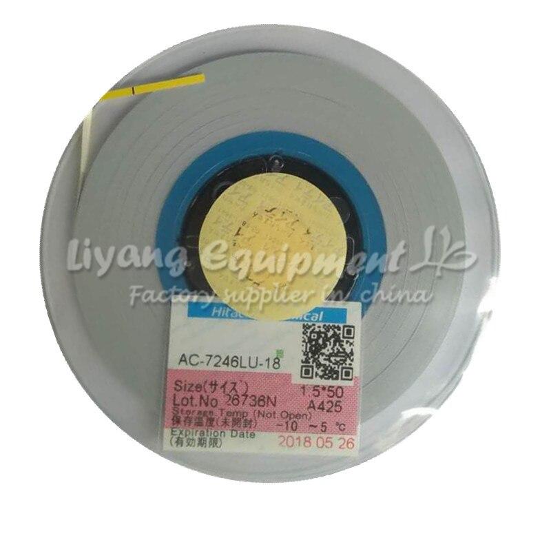 Original ACF tape AC-7206U-18 PCB Repair TAPE 2MM*50M latest Date for pulse hot press flex cable machine use original acf ac 11800y 16 1 0mmx100m tape