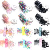 Child Baby Girls High Elastic Disposable Rubber Band Jelly Rainbow Colorful Portable Hair Ropes TPU Ponytail Holder Tie Rings
