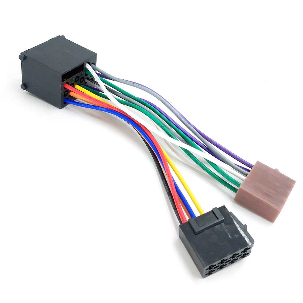 hight resolution of  biurlink aftermarket car cd changer round 17pin plug to iso lead wiring harness cable adapter for