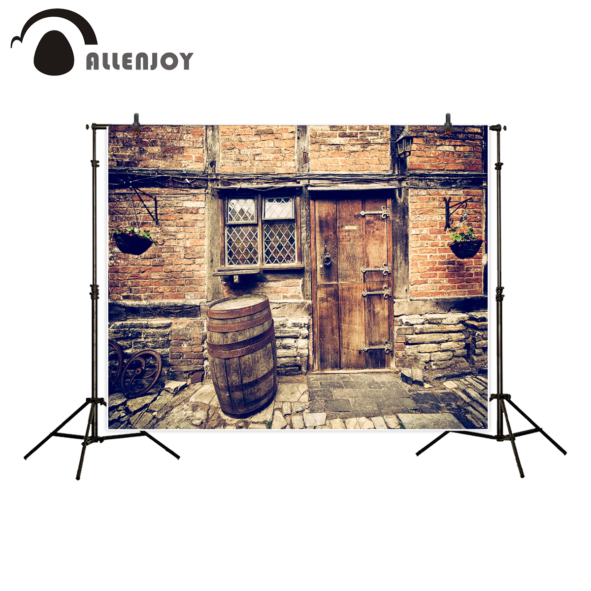 Background Consumer Electronics Bright Alenjoy Photography Backdrop Halloween Pumpkin Table Brick Wall Background Photocall Photo Prop Shoot Printed Customize Printed