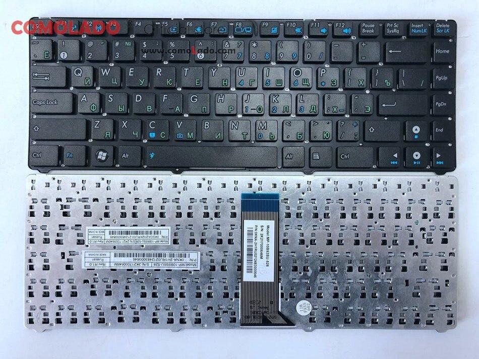 Russian laptop Keyboard for ASUS EEE PC EPC 1201 1215 U20 U20A UL20 1201HA 1201T 1201N 1201K RU Black without frame -1