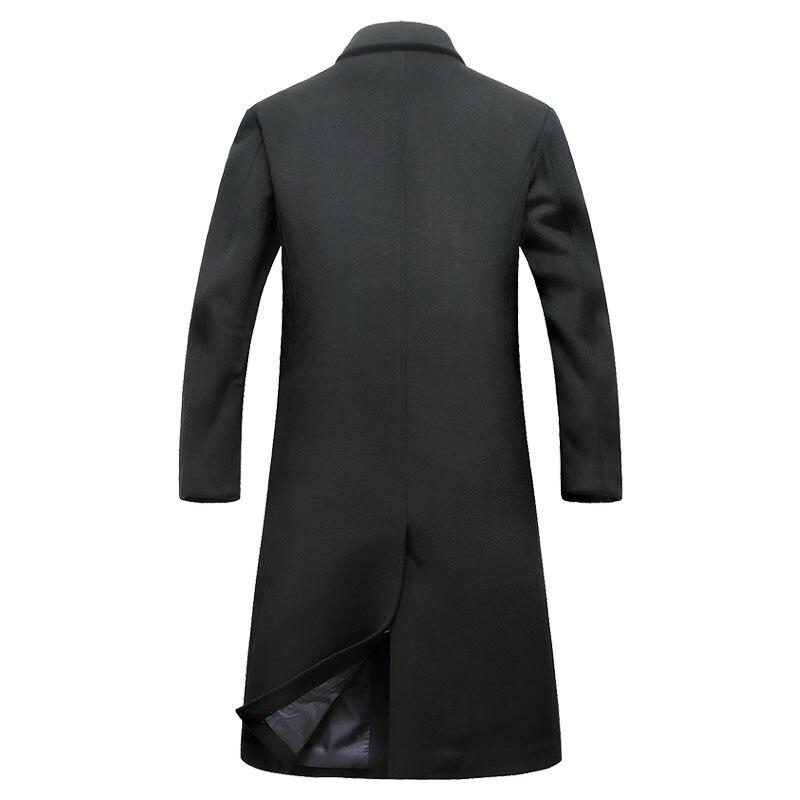 Eichos Pea Y Ocasionales Abrigo Larga Negocio Largo Lana Para gray Slim De Invierno Fit Trench Coat Los Moda Black Nzy1851 Hombre Hombres rqrAOZW7