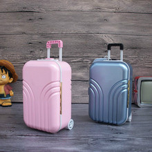 Luggage Case Shape Music Box Creative Jewelry Music Box 2018 New Year Gift Purchase Home Desk Decoration Figurines Miniatures