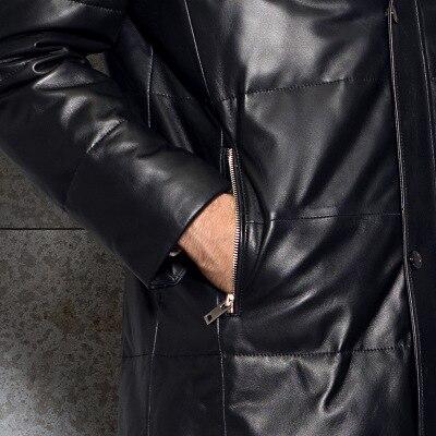 2018 À Capuchon Longue Véritable Black Peau Fourrure Femme Réel Renard Mouton Lx1101 Veste Hommes Cuir Nouvelle De En Szie Plus Vestes Ayunsue 7qSF8F