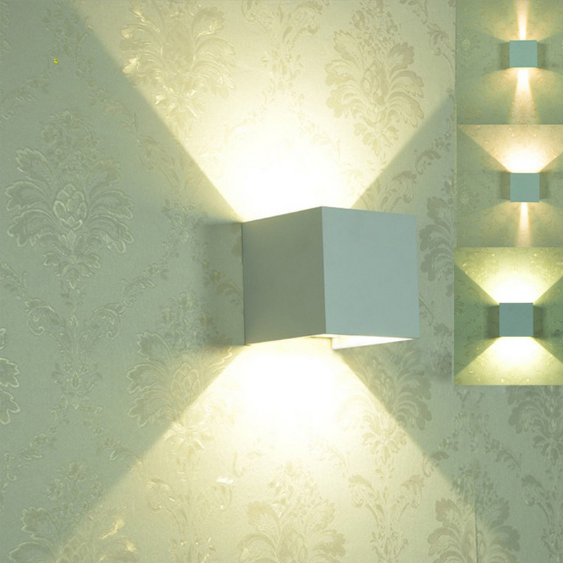 12W Led Wall Light 10CM*10CM*10CM Waterproof Bathroom Aluminium ...