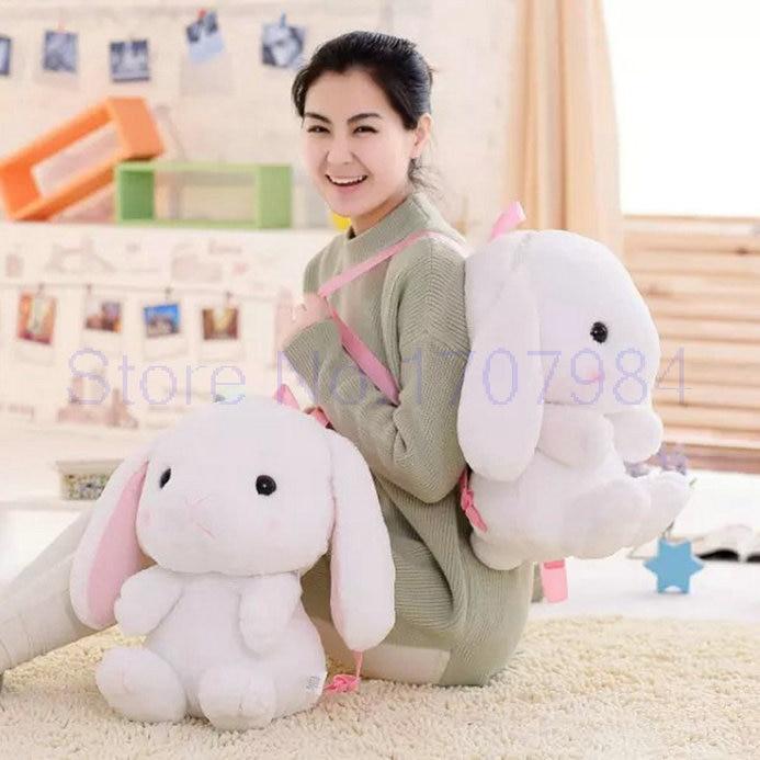1 pièce 40 cm vente sac en peluche sac à dos cartoon lapin sac à dos, sac à dos pour enfants prix bas Kawaii jouet livraison gratuite
