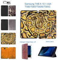 MTT Snake Skin Case For Samsung Galaxy Tab A 10.1 2016 T585N T580N SM T585 T580 Cover Funda PU Leather Tablet Flip Stand Cases