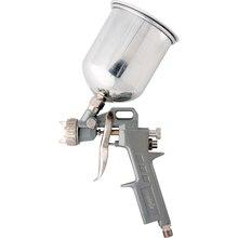Краскораспылитель пневматический MATRIX 57314 (технология распыления High Pressure, объем бачка 600 мл, верхнее расположение, в комплекте 3 сопла: 1,2 мм, 1,5 мм и 1,8 мм)