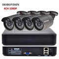 Kit Sistema de CCTV 4CH 1080 P 2.0 HDMI P2P ONVIF 4CH 1080 P NVR + 4 PCS 1080 P IP66 Ao Ar Livre Câmera de Segurança CCTV CÂMERA IP KIT