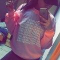 2015 Moda Outono Rosa Bling Do Inverno Fleeced Grosso Quente Hoodies Pullovers 800 Hotline Gráficos Camisolas Das Mulheres Harajuku Bonito