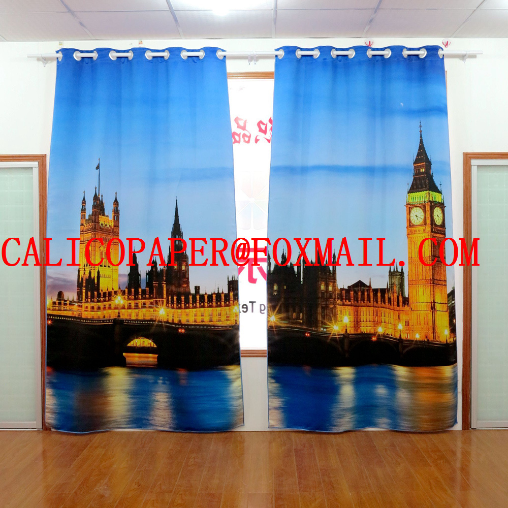 3d fabric The palace of Westminster printed curtains Digital 3D printing curtains finished products Digital shutter3d fabric The palace of Westminster printed curtains Digital 3D printing curtains finished products Digital shutter