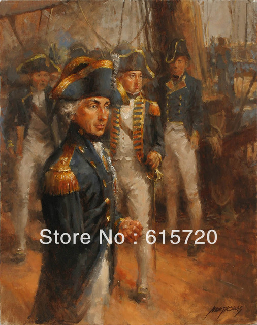 Andy Thomas Admiral Lord Nelson Antique Portrait Style Oil Paintings Art Prints On Canvas