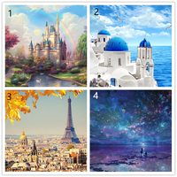 1000PCS Paper PUZZLE Dream Castle City Of Sky Assemble Scenery Reduce Pressure Interactive Games