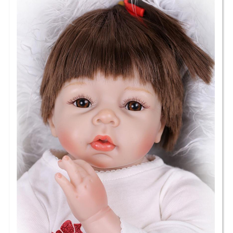 Cute Newborn Doll Real Reborn Babies Toys for Girl's Gift,20 Inch Silicone Reborn Baby Dolls with Clothes 15 real rebron babies boneca silicone reborn baby dolls with clothes cute newborn baby doll educational toys for children