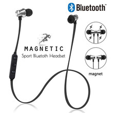 Magnetic Wireless Bluetooth Earphone Sport Wireless Earphones Handsfree Bluetooth Wireless Earbuds with Mic Headset for iPhone(China)