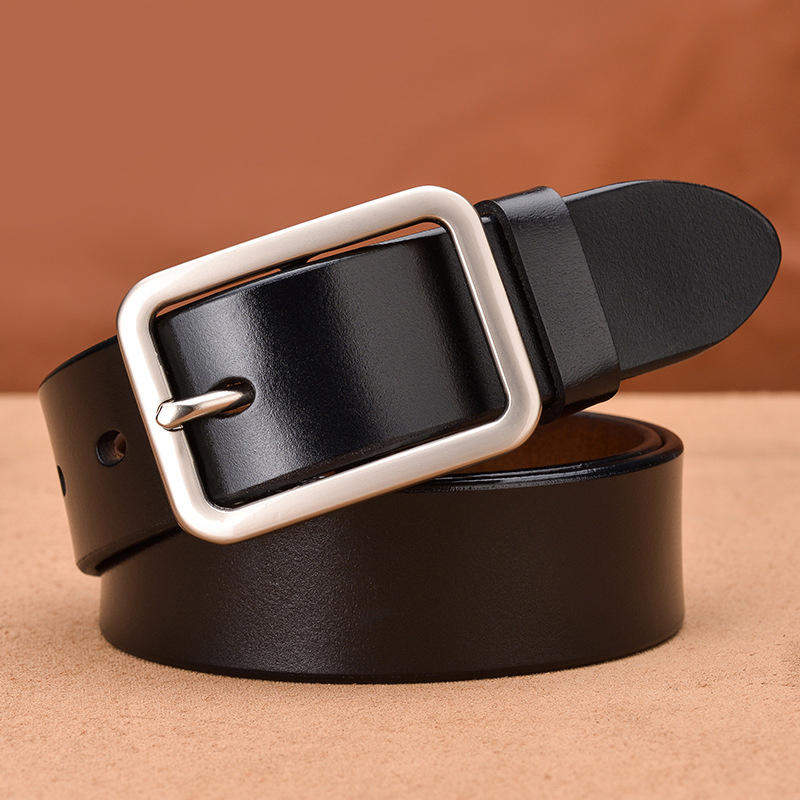 Unisex belt Leather female strap Cinto Vintage Style Pin Buckle ceinture male Business cummerbunds unisex designer casual belt