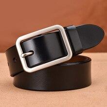 Unisex belt Leather female strap Cinto Vintage Style Pin Buckle ceinture male Business cummerbunds unisex designer casual belt