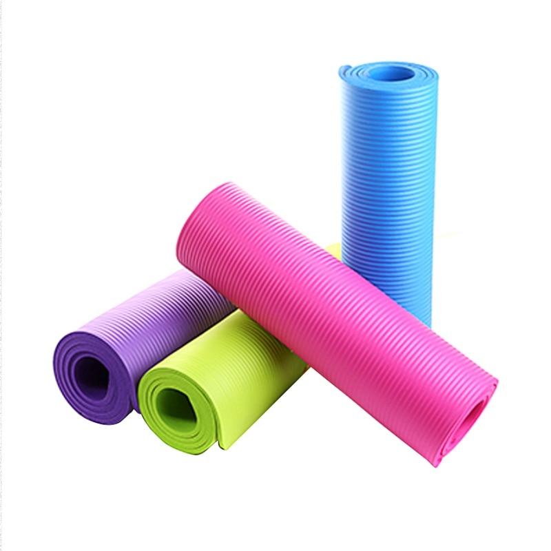 4 mm EVA utilitario deportivo ejercicio estera de yoga antideslizante gruesa almohadilla plegable de fitness pilates mat