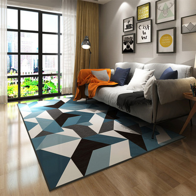 200cm*300cm big carpets American Nordic Chenille Geometric Carpets For Living Room Home Bedroom Rugs Coffee Table Area R