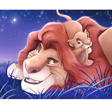 Frameless Cartoon Animals Lions DIY Painting By Numbers Acrylic Paint On Canvas Kit For Home Decorative Art