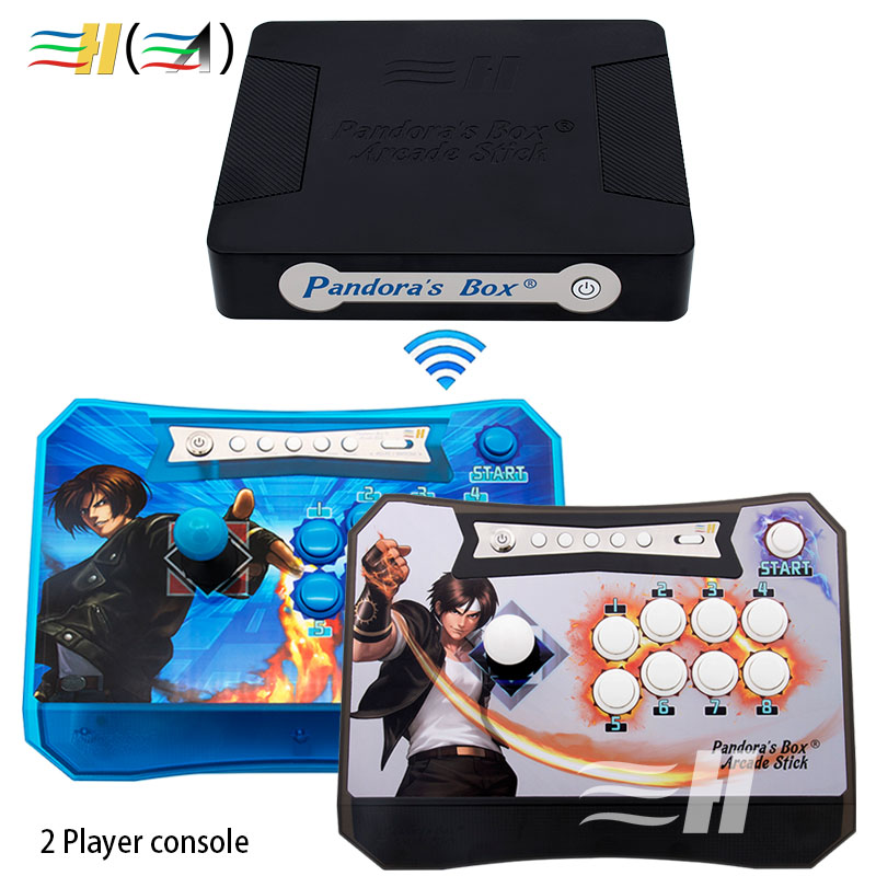 Pandora box 4S 815 in 1 game Pandora's box wireless joystick arcade controller zero delay for children game machine mini console pandora s box arcade joystick for ps3 controller computer game arcade sticks new street fighters joystick consoles