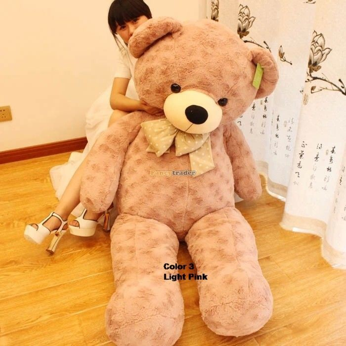 Fancytrader 67\'\' 170cm JUMBO Huge Giant Plush Stuffed Teddy Bear, 3 Colors Available, Free Shipping FT90345 (8)