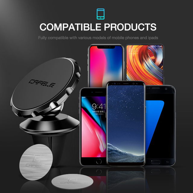 Cafele Car Phone Holder Magnetic Air Vent Magnet Mobile Phone Car Holder For Cell Phone Car Mount Holder Universal 3