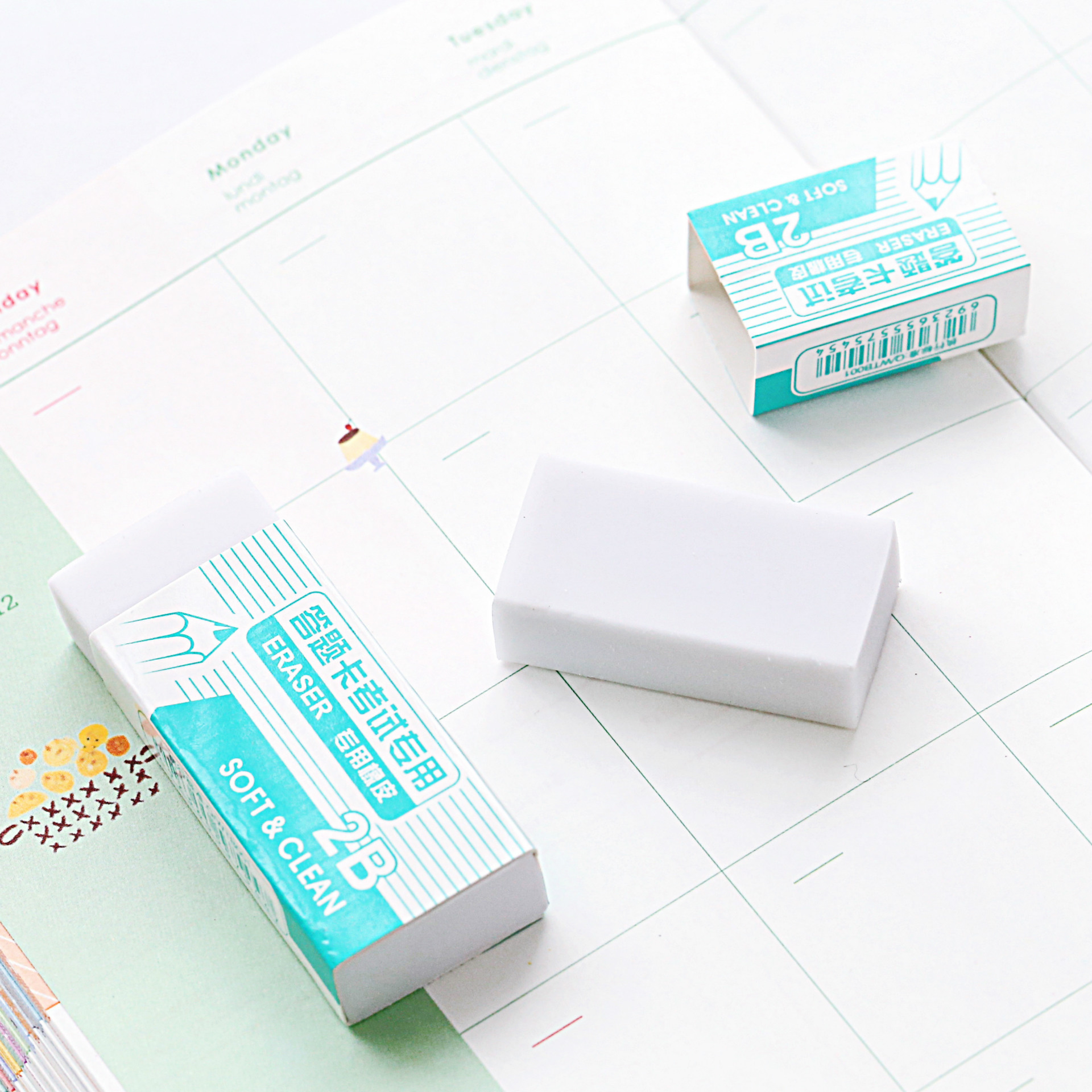 Coloffice Kawaii Eraser Student Supplies Answer Sheet 2B Exam Writing Dedicated Rubber White Ordinary Stationary Eraser 1piece