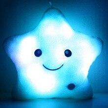 2017 Rushed Sale For Kawaii Luminous Pillow Christmas Toys Led Light Star Plush Cute Toy For Children Kids Birthday Gift