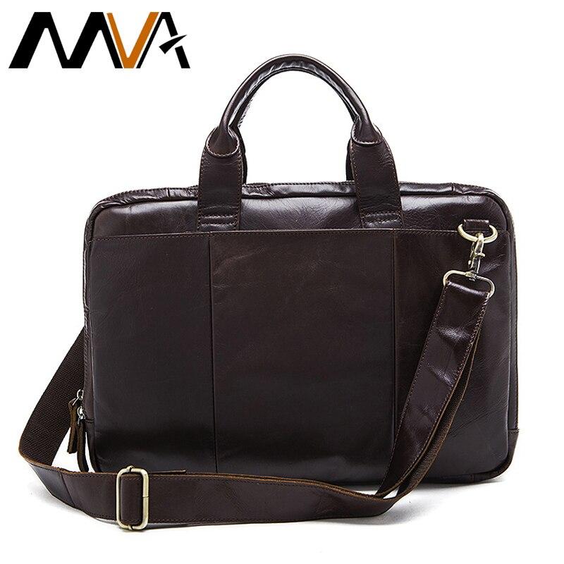 MVA Briefcase Male Messenger Bag men s Genuine Leather Bag for Document Men Shoulder travel Handbags