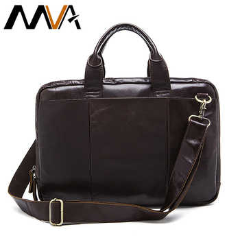MVA Briefcase Male Messenger Bag men's Genuine Leather Bag for Document Men Shoulder travel Handbags satchel laptop 14 inch 8902 - DISCOUNT ITEM  50% OFF All Category