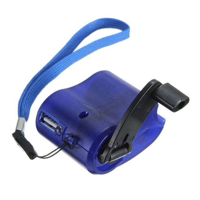 Hand Power Dynamo Portable Durable Outdoor Emergency ABS Travel USB Survival Gear 3