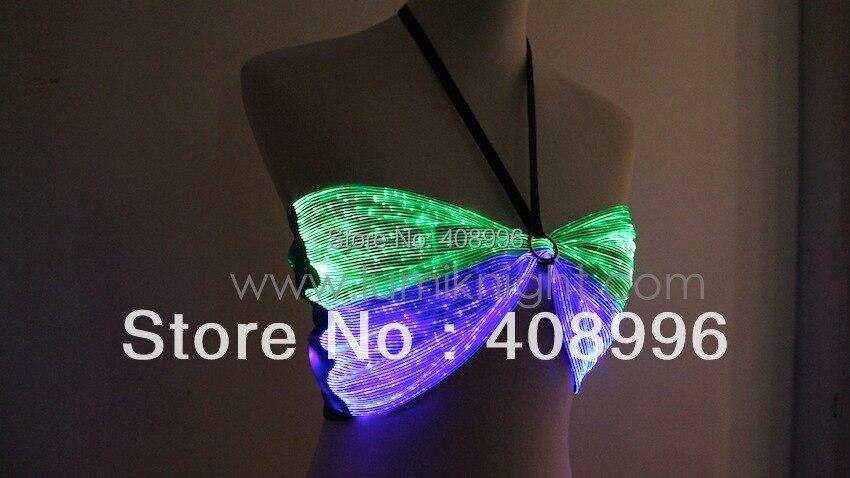 Sexy tissu de fiber optique lumineuse soutien - gorge pour club performance / costume lumineux / singulier robe / club / DS soutien - gorge