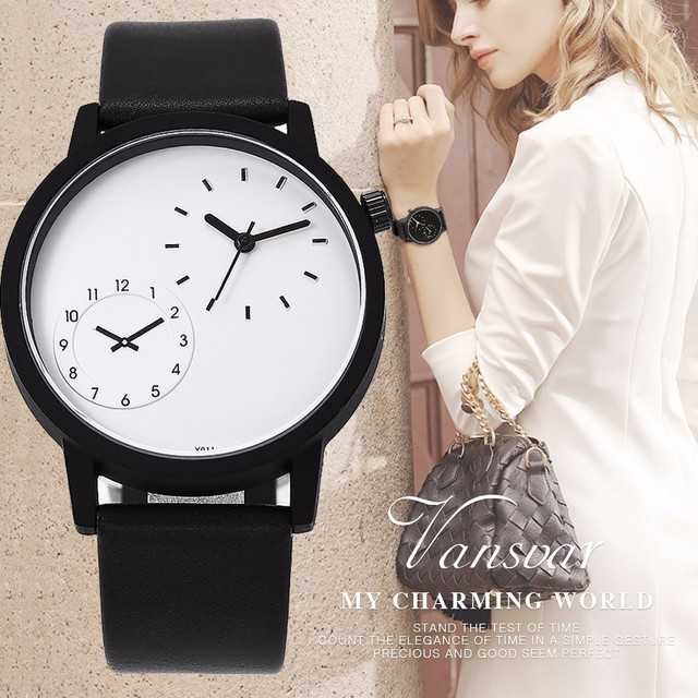 e731cc5f72ba 2017 New Vansvar New Popular Minimalist Style Creative Delicacy  Wristwatches Ladies Quartz Watch Classic Sport Women s Watch Hot