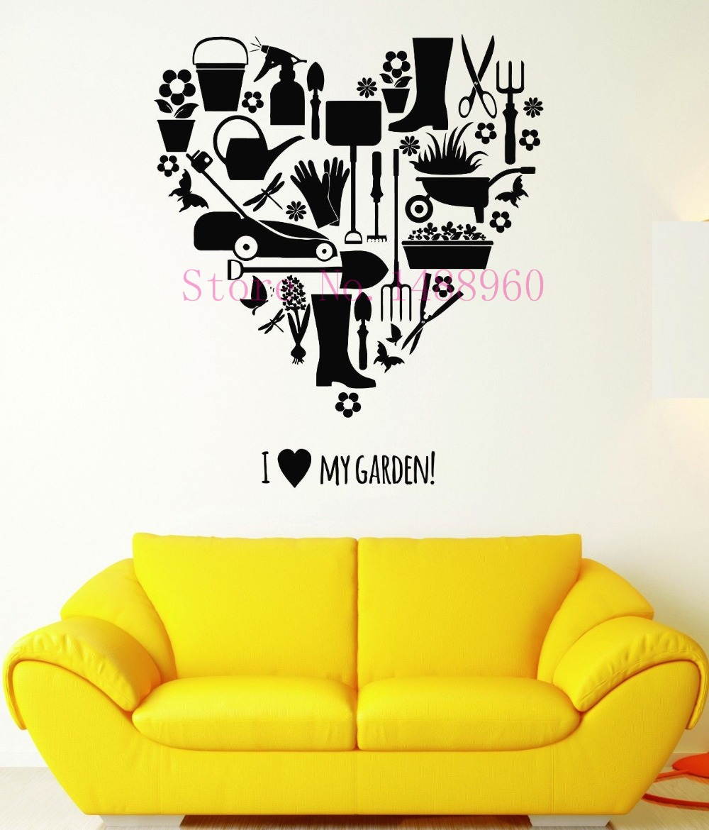 E301 DIY wall stickers home decor mural Wall Decal Farm Garden ...