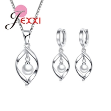 Jemmin Fashion Simple Pearl Jewelry Sets For Banquet Dress W