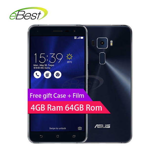 "Asus Zenfone 3 Ze552kl Android мобильного телефона 5.5 ""Snapdragon 625 Octa core 4 ГБ ОЗУ 64 г ROM 16.0mp Отпечатков пальцев ID смартфон"