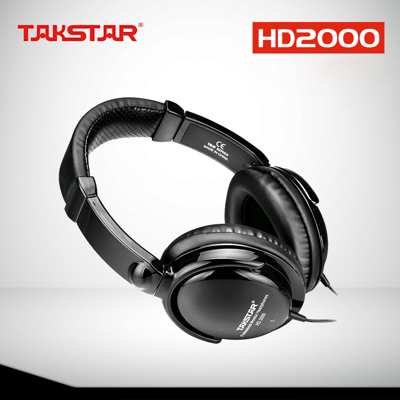 TAKSTAR HD2000 headset music monitor's dj earphones Free Shipping Audio Mixing Recording Professional Monitor Headphones image