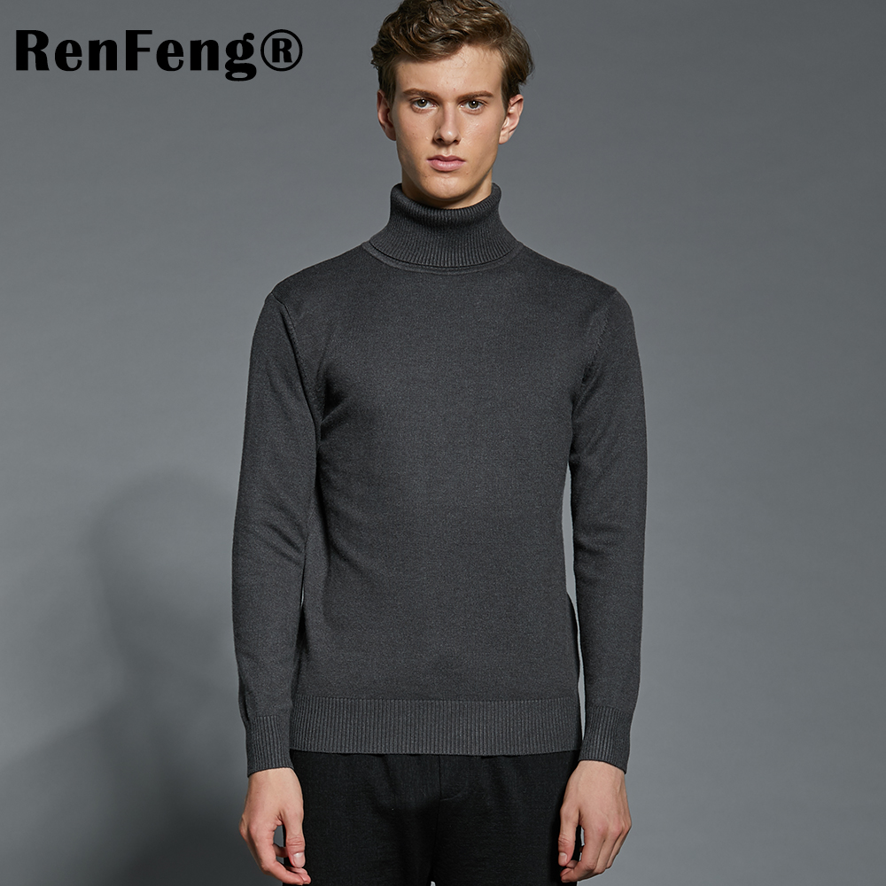New High Quality Striped Autumn Winter Men Sweater Thick Jacquard Knitted Pullover and Sweater Fashion Casual Homme Jumper Man (10)