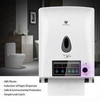 Automatic Sensor Roll Paper Towel Dispenser Wall Mount Paper Holder Auto Cut Jumbo Roll Tissue Dispenser for Bathroom