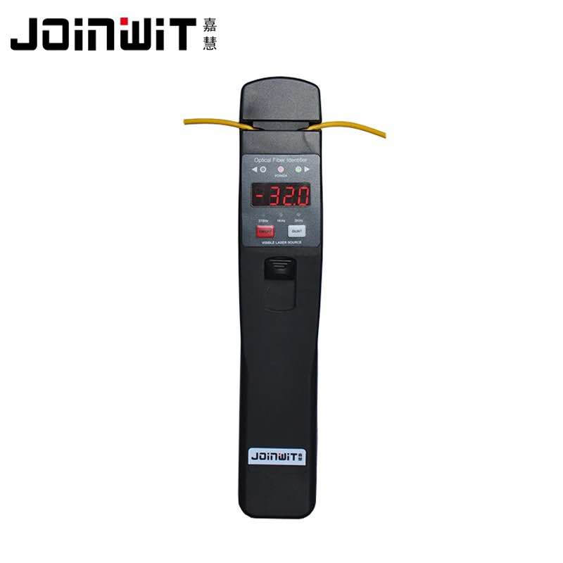 Joinwit JW3306D Fiber Optical Identifier with Built in 10mw Visual Fault Locator 800 1700nm Plastic Black